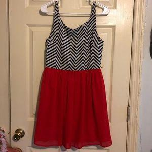 Chevron Mini Dress
